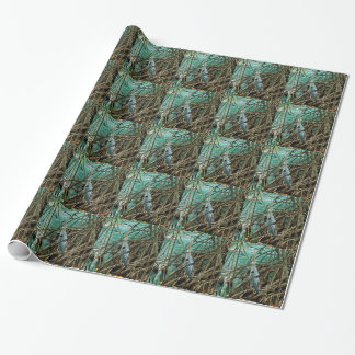 Blue Heron Tiled Wrapping Paper