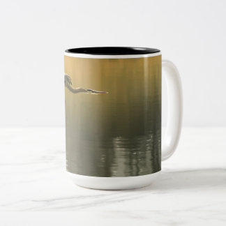 Blue Heron Two-Tone Coffee Mug