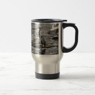 Blue Heron Wading Bird Wildlife design Travel Mug