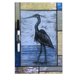 Blue Heron with Blues Dry Erase Board