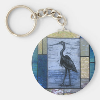 Blue Heron with Blues Keychain