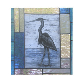 Blue Heron with Blues Notepad