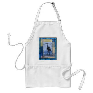 Blue Heron with Blues Standard Apron