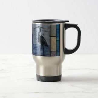 Blue Heron with Blues Travel Mug