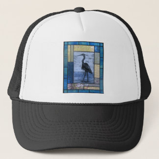 Blue Heron with Blues Trucker Hat