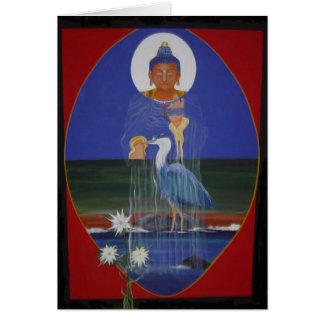 Blue Heron Zen Centre greeting card