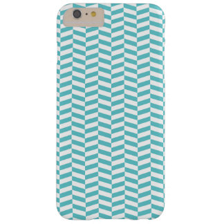 Blue Herringbone Barely There iPhone 6 Plus Case
