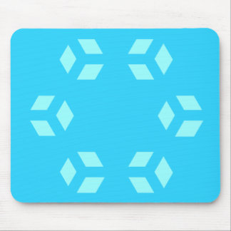 Blue Hexagon Pattern Mousepad