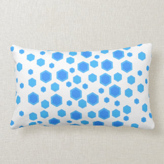Blue Hexagons Pattern. Lumbar Pillow