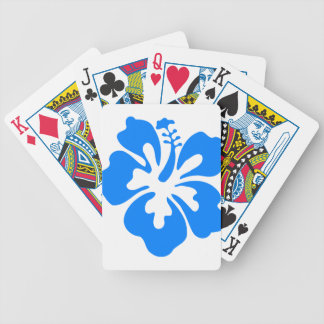 Blue Hibiscus Flower Bicycle Playing Cards