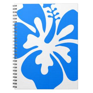 Blue Hibiscus Flower Notebook