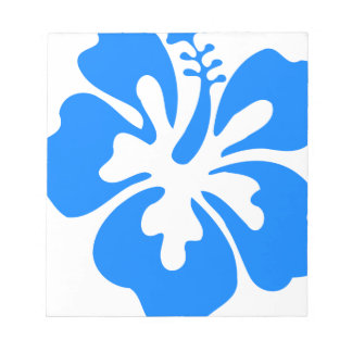 Blue Hibiscus Flower Notepad