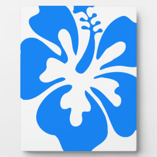 Blue Hibiscus Flower Plaque