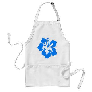 Blue Hibiscus Flower Standard Apron