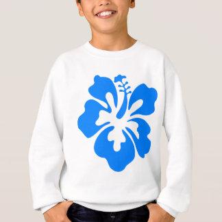 Blue Hibiscus Flower Sweatshirt