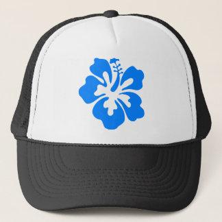 Blue Hibiscus Flower Trucker Hat