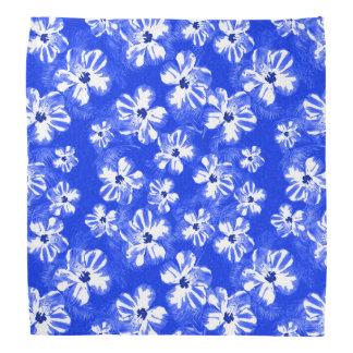 Blue Hibiscus Flowers Bandana