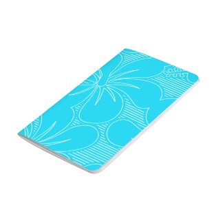 Blue Hibiscus lines Journal