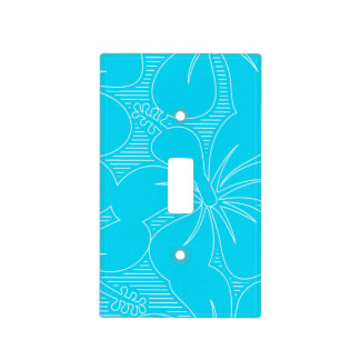 Blue Hibiscus lines Light Switch Cover