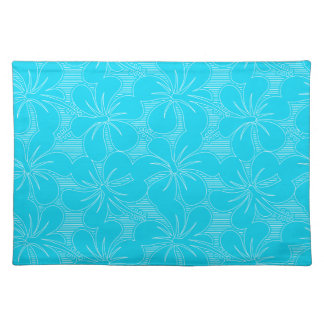 Blue Hibiscus lines Placemat