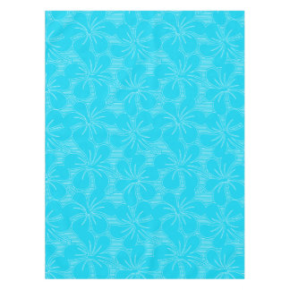 Blue Hibiscus lines Tablecloth
