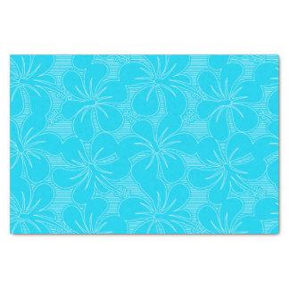 Blue Hibiscus lines Tissue Paper