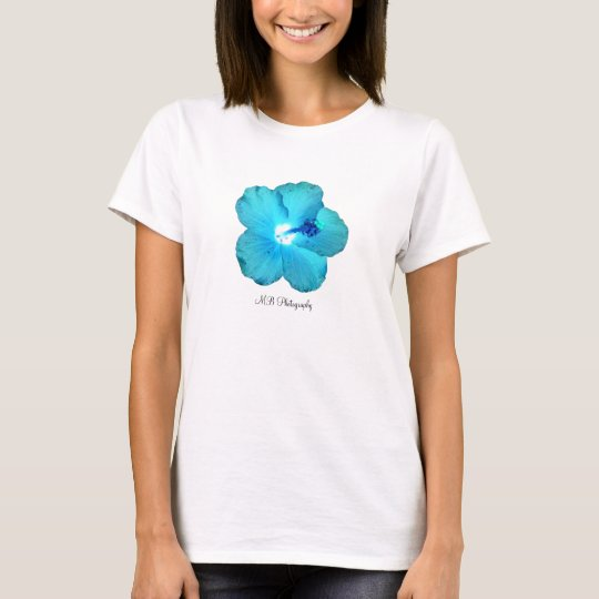 Blue Hibiscus tank top