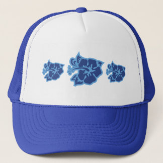 Blue Hibiscus Trucker Hat