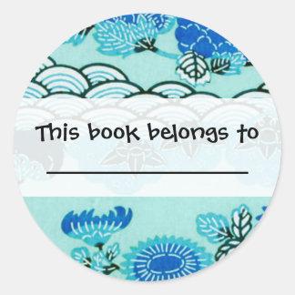 Blue Hills & Flowers Classic Round Sticker
