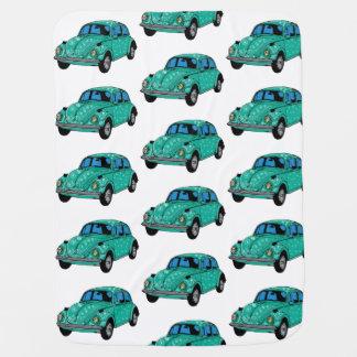 Blue Hippie Car Baby Blanket