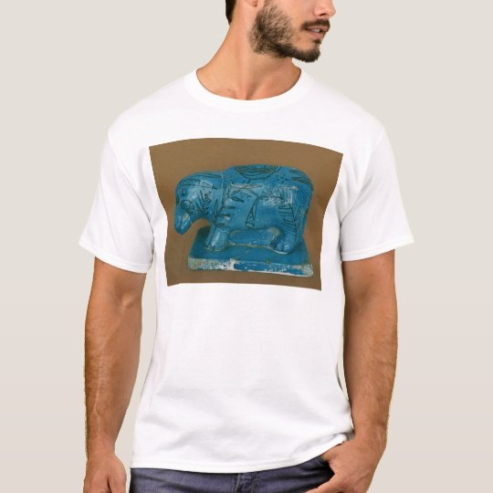 Blue hippopotamus with black decoration T-Shirt