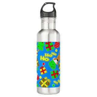 Blue - Ho Ho Santa 710 Ml Water Bottle