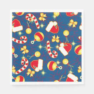 Blue - Ho Ho Santa Disposable Napkins