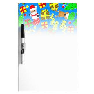 Blue - Ho Ho Santa Dry Erase Board