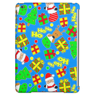 Blue - Ho Ho Santa iPad Air Cover
