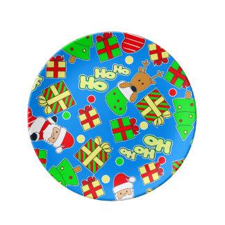 Blue - Ho Ho Santa Plate