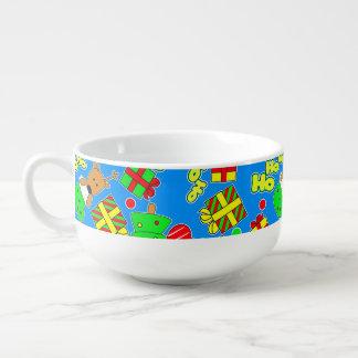 Blue - Ho Ho Santa Soup Mug