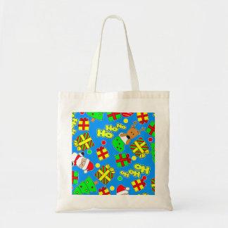 Blue - Ho Ho Santa Tote Bag