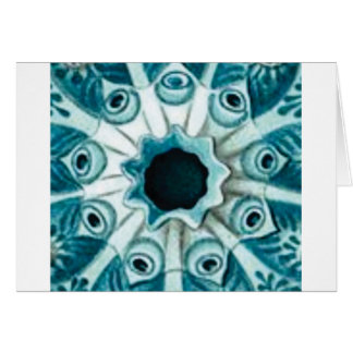 blue hole and eyes card