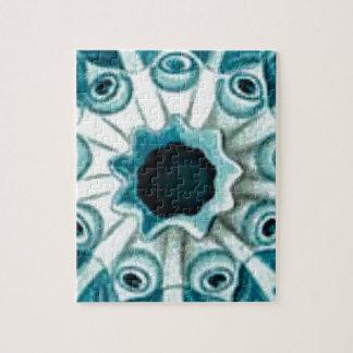 blue hole and eyes jigsaw puzzle