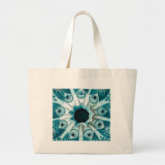 blue hole and eyes large tote bag