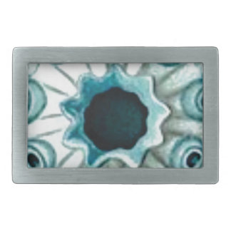 blue hole and eyes rectangular belt buckle