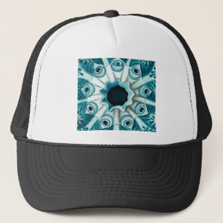 blue hole and eyes trucker hat