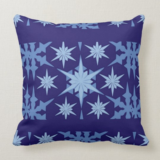 Blue Holiday Throw Design Throw Pillow