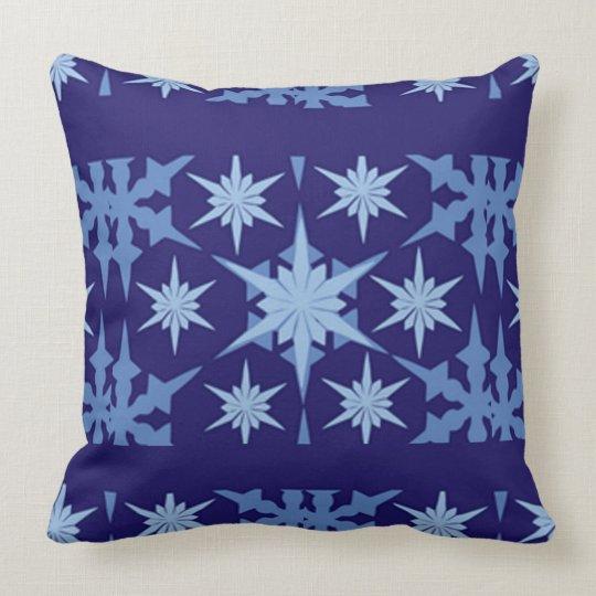Blue Holiday Throw Design Throw Pillow