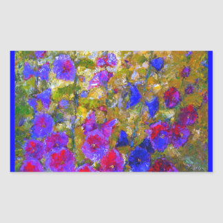 Blue Hollyhocks garden by Sharles Sticker