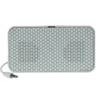 Blue Honey Comb Pattern iPod Speakers