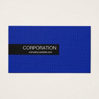 Blue honeycomb sleek standard size business cards