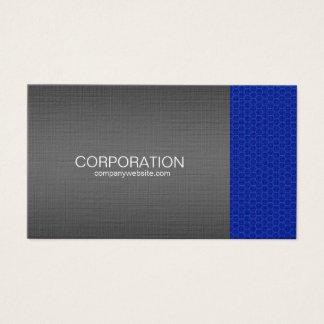 Blue honeycomb titanium, elite business card