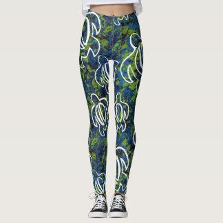 Blue Honu Leggings